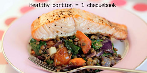 Portion size what do healthy portion sizes look like for Serving size of fish