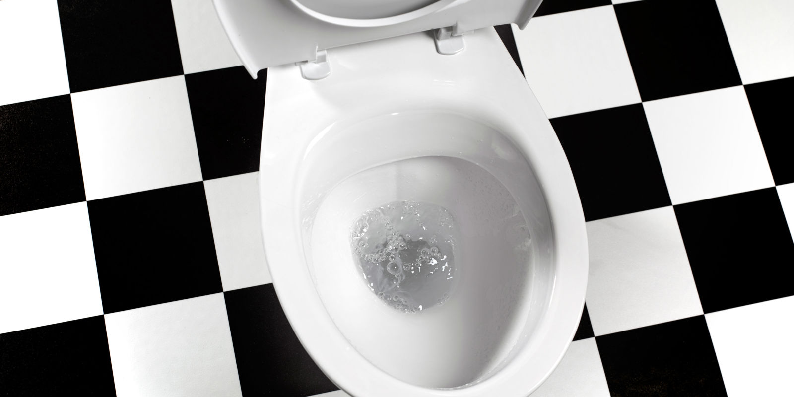 Behavioural Therapy For Urinary Incontinence - White toilet with black seat