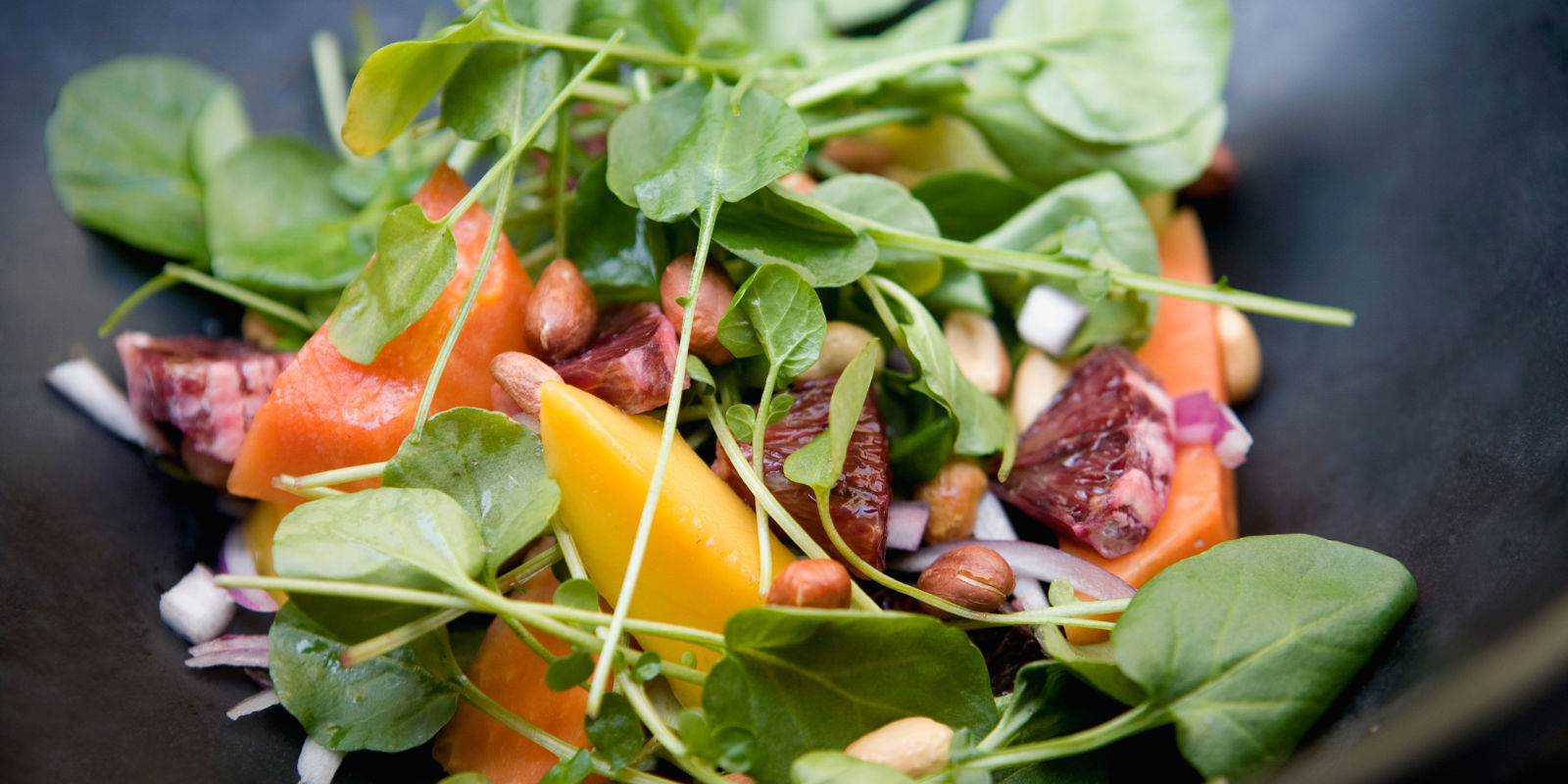 Close Up Of Multicolored Healthy Salad