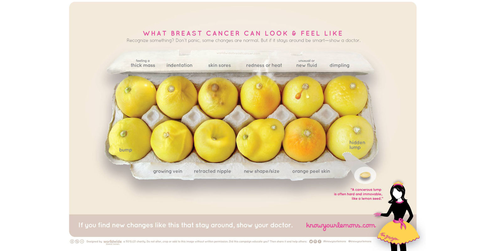 How a viral image of lemons is helping breast cancer awareness