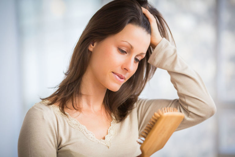 menopausal woman brittle hair loss