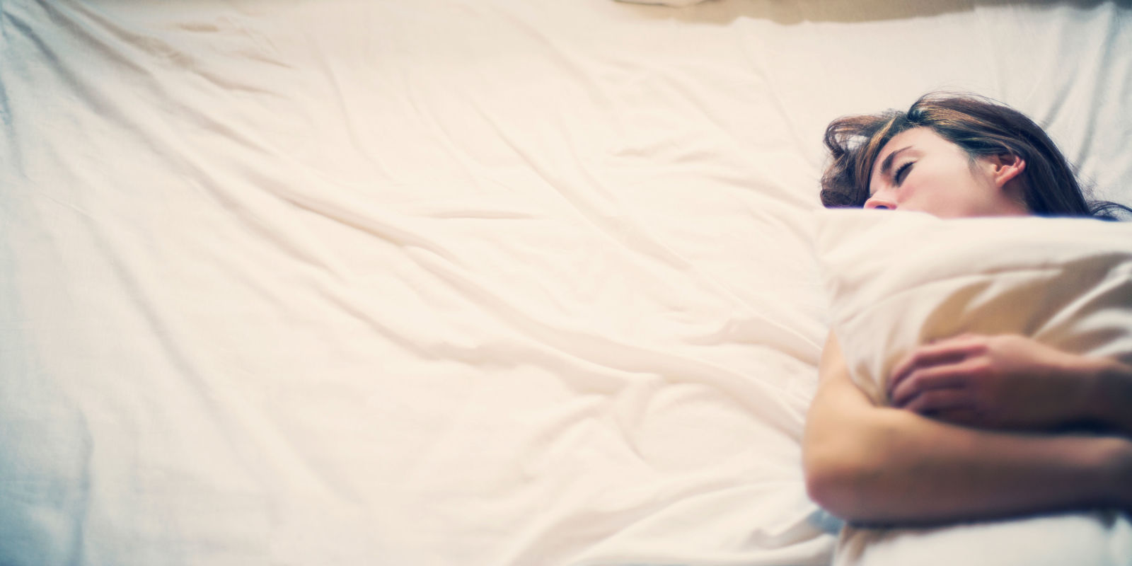 woman in bed asleep
